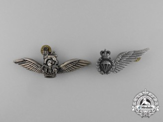 Two QEII Australian Army Aviation Badges