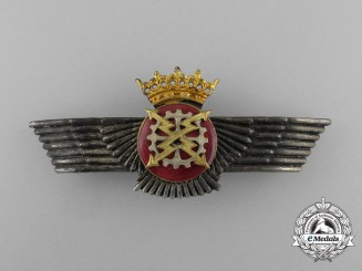 A Spanish Air Force Radio Operator/Mechanic Badge; Franco Era (1936-1975)