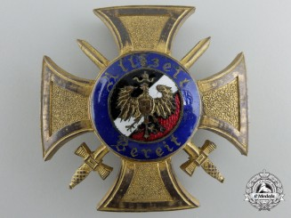 A 1914 Organisation of German War Volunteers Badge; First Class