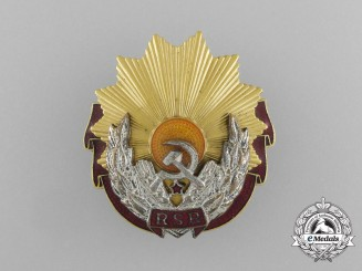 A Romanian Republic Order of Labour; 1st Class (1965-1989)