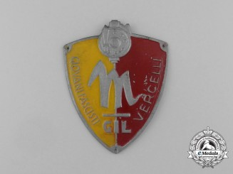 An Italian GIL (Gioventu Italiana del Littorio) Fascist Youth Vercelli Sleeve Badge