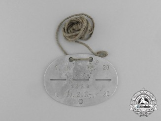 A Second War German ID Tag to the 1. Funk-Ersatz-Kompanie. 20