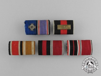 A Grouping of Five Second War German Ribbon Medal Bars