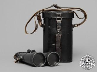 A Set of 1943 Wehrmacht Field Binoculars by Hensoldt & Söhne Werke A-G, Wetzlar