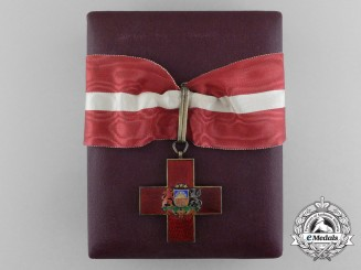 Lativa. An Honour Cross of the Red Cross, 1st Class Neck Badge, c.1935