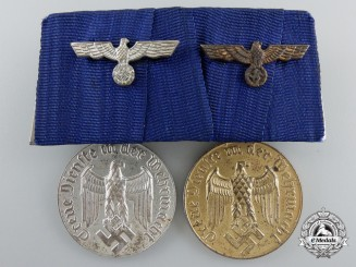 Two Wehrmacht Army Long Service Awards