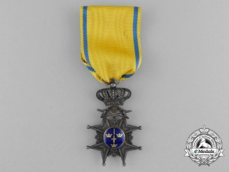 A Swedish Order of the Sword; Silver Cross with Swords