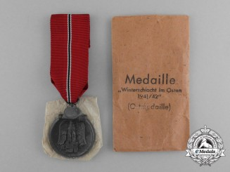 An Eastern Winter Campaign Medal in its Original Packet of Issue by Katz & Deyhle of Pforzheim
