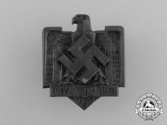 A 1939 NSRL District Cologne Sports and Gymnastics Festival Badge
