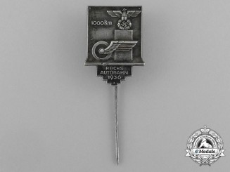 A Stick Pin for the Establishment of 1000 km of German Autobahn