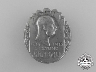 A First War Austro-Hungarian Krakow Fortress Cap Badge
