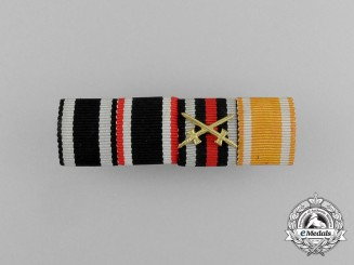 A First and Second War German Ribbon Bar with Four Awards