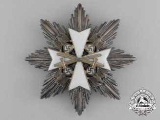 An Order of the German Eagle; Grand Cross Breast Star with Swords by Godet