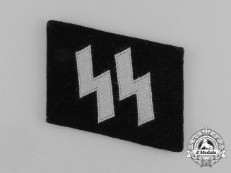 A Single Mint Waffen-SS EM/NCO's BeVo Runic Collar Tab