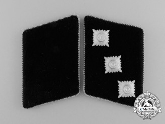 A Mint Set of Germanic Waffen-SS in Flanders Untersturmführer Collar Tabs; SS-RZM Marked