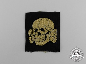 A Mint and Unissued Scarce Waffen-SS EM/NCO's Tropical Cap Skull