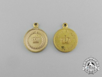 Two First War German Long Service Miniature Medals