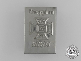"A First War German ""Wartime Years 1914/15"" Matchbox Cover"