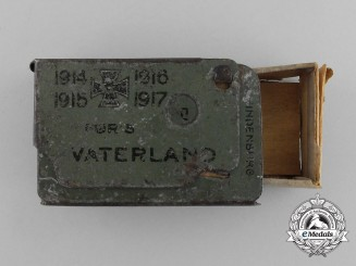 A First War Iron Cross 1914 & Fatherland Matchbox Cover