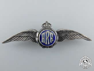 "A Canadian-Made Royal Air Force (RAF) Wings with ""ARF"" Insignia"