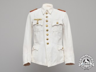 The Wehrnacht Army White Summer Tunic of Generalmajor Hellmuth Stieff
