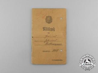 A First War military ID to Sapper Johannes Sellmann; Battle of Montdidier-Noyon