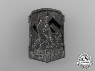 A 1933 HJ Plauen 1st Regional Rally Badge