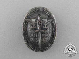 A 1936 1st German Conference for the Testing of Fiduciary Services Badge