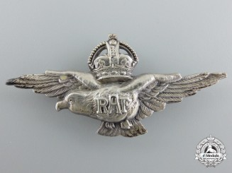 A Second War Silver Royal Air Force (RAF) Eagle Badge