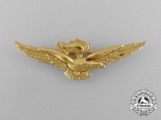 An Italian Navy (Marina Militare) Naval Pilot/Observer Badge