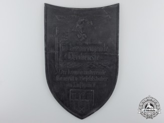 A Luftwaffe Merit Plaque of Air District II