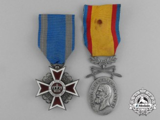 Two Romanian (Kingdom) Awards & Decorations