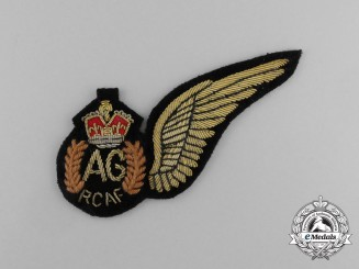A Second War Royal Canadian Air Force (RCAF) Air Gunner (AG) Dress Brevet Wing