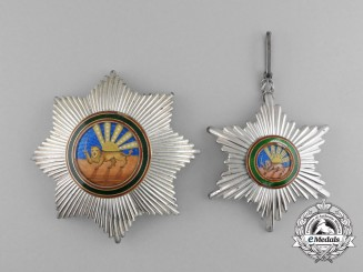 Iran, Pahlavi Empire. An Order of Homayoun, Grand Cross Set, c.1920