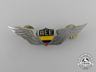 "An Ecuadorian Army Air Force ""AEE"" Pilot Badge"