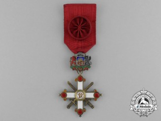 A Rare Latvian Order of Vesthardus with Swords; Officer's Cross