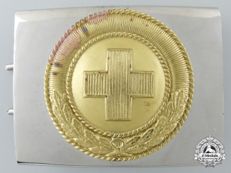 A German Red Cross 1933 Pattern Enlisted Man's Belt Buckle; Published Example