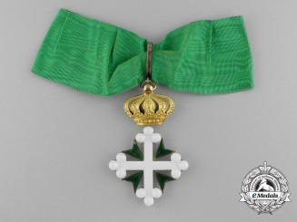 An Italian Order of St. Maurice and St. Lazarus; Commander in Gold