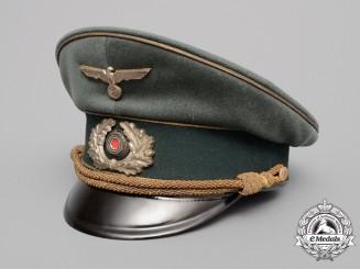 An Army (Heer) General's Peak Visor Cap by G.A. Hoffmann, Berlin