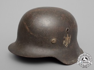 A Single Decal M42 Wehrmacht Heer (Army) Stahlhelm by Vereinigte Deutsche Nickelwerke