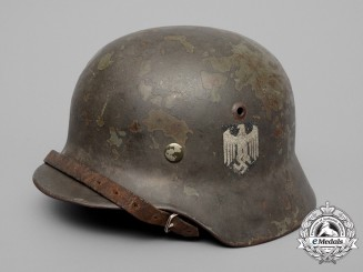 A Single Decal M35 Wehrmacht Heer (Army) Stahlhelm by Vereinigte Deutsche Nickelwerke