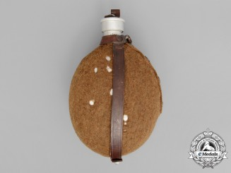 A Second War German Army (Heer) Canteen with Large Clip