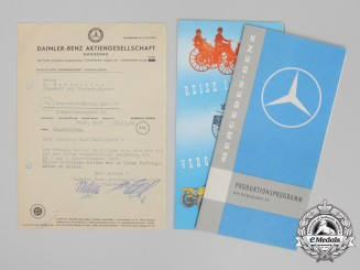 A Collection of Wartime & Postwar Daimler-Benz Documents