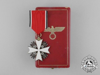 A German Eagle Order by Godet; Third/Fifth Class Cross with Case