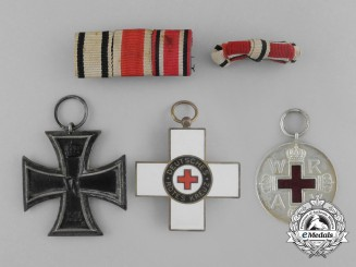 A German Non-Combatant's Iron Cross 1914 Second Class & Red Cross Grouping