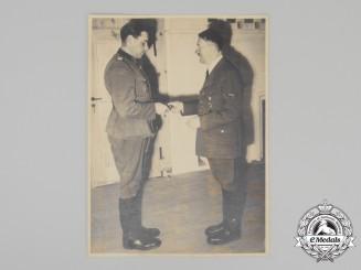 An Official Press Photo of SS-Standartenführer Fritz Witt