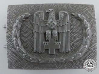 A German Red Cross (Deutsche Rotes Kreuz) 1938 Pattern Enlisted Man's Belt Buckle; Published