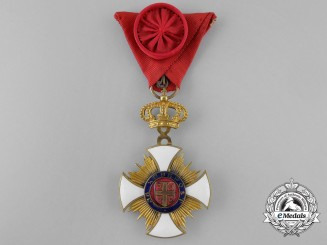 Serbia, Kingdom. An Order of Kara-George, IV Class Officer, French Made
