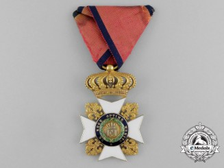 Italian States, Kingdom of the Two Sicilies. A Royal Order of Francis I in Gold, II Class Knight