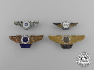 Four United Sates Army Air Force/Air Force Badges